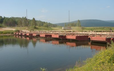 Введено ораничение движения транспортных средств по наплавному понтонному мосту через р.Лена в районе с.Тутура на км 8 а/д «Жигалово-Казачинское»