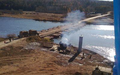 Внимание!!! Закрыт проезд по наплавному мосту через р.Лена в районе с.Верхоленск Качугского района
