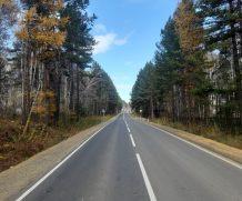 Окончен ремонт автомобильной дороги «Подьезд к п.Патроны» в Иркутском районе Иркутской области.