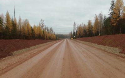 Завершились работы по строительству автомобильной дороги Киренск-Казачинское  на участке км 31+706 – км65+500 в Киренском и Казачинско-Ленском районах Иркутской области